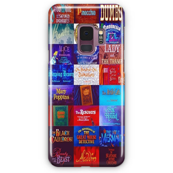 All Disney Movie Tittle Samsung Galaxy S9 Plus Case | Casescraft