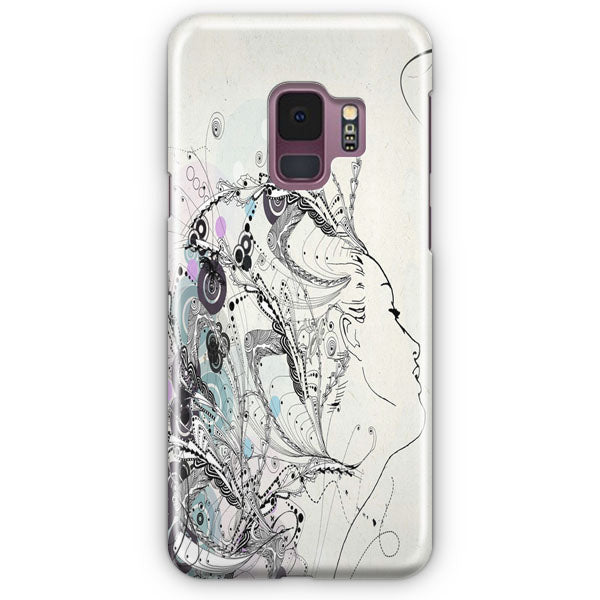 Artistic Human White Abstract Samsung Galaxy S9 Plus Case | Casescraft