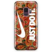 Autumn Paisley Pattern Nike Just Do It Samsung Galaxy S9 Case | Casescraft