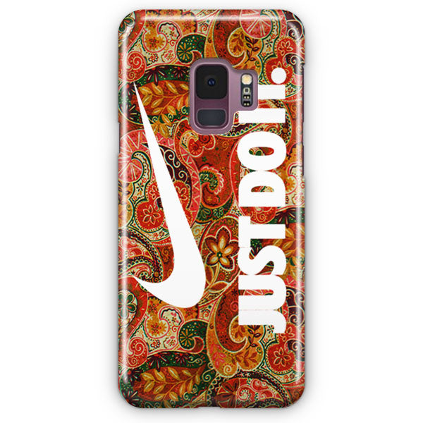 Autumn Paisley Pattern Nike Just Do It Samsung Galaxy S9 Plus Case | Casescraft