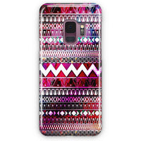 Aztec Coral Teal Chevron Wood Samsung Galaxy S9 Plus Case | Casescraft