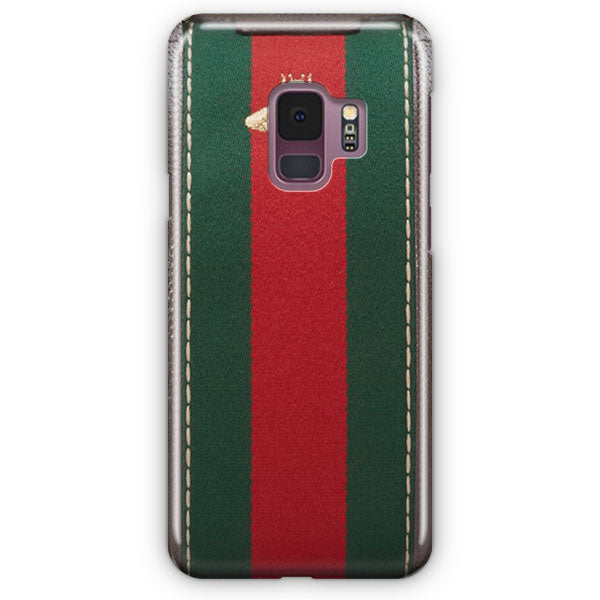 detailing 2729b 8527e Gucci Bag Bee Pattern Green And Red Samsung Galaxy S9 Case   Casescraft