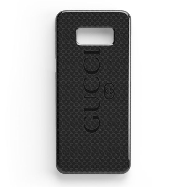 low priced 6cfd8 9be5c Gucci Black Emboss Samsung Galaxy S8 Plus Case | Casescraft