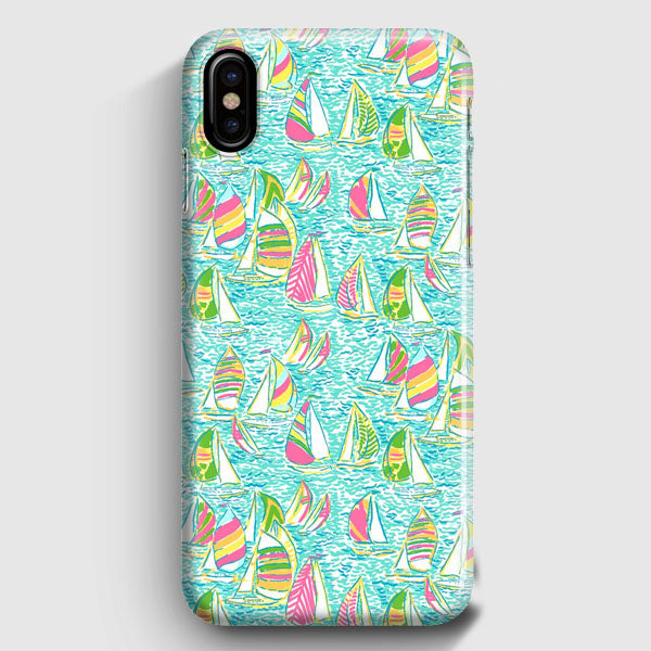 online store 350cc 567a7 Lilly Pulitzer Sailboat iPhone X Case | Casescraft