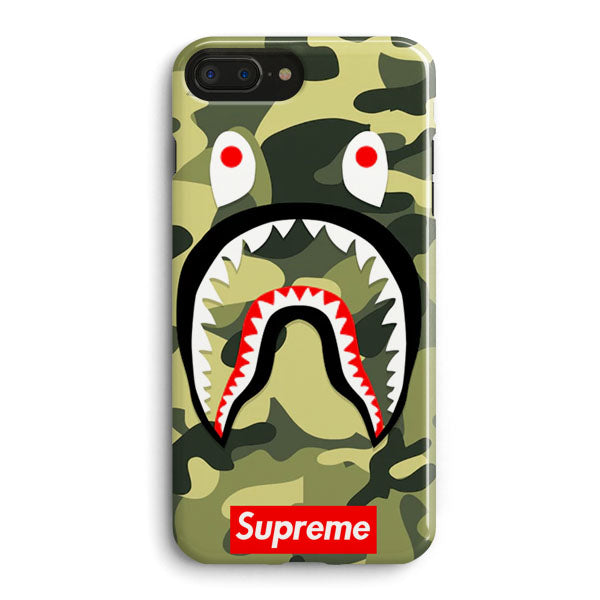 save off b5a60 73948 Shark Camo Bathing Bape Supreme iPhone 7 Plus Case | Casescraft