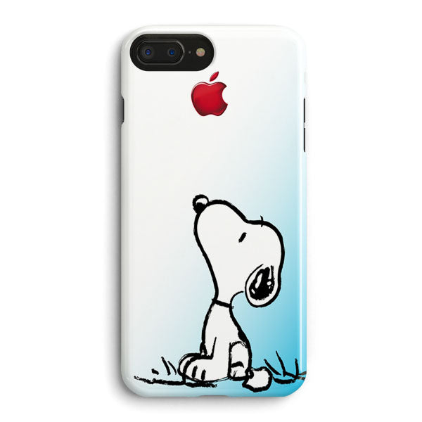 save off 96387 5a48e Snoopy Gradient Pink Mint Custome Apple Logo iPhone 8 Plus Case | Casescraft