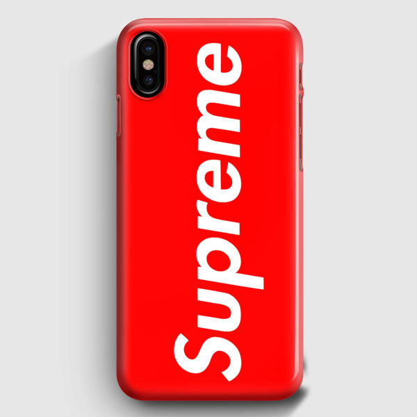 Supreme New York Clothing Skateboarding iPhone X Case | Casescraft