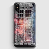 Word Art Tardis Doctor Who In Galaxy iPhone X Case | Casescraft