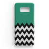 Zigzag Green And White Tiles Samsung Galaxy S8 Case | Casescraft