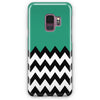 Zigzag Green And White Tiles Samsung Galaxy S9 Plus Case | Casescraft