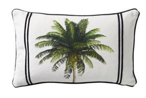 Bahama Palm Green Cushion