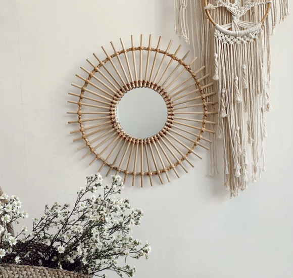 Atlas Rattan Mirror