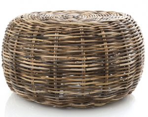 Seville Rattan Ottoman/Table