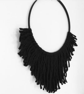 Hus Black on Black Wall Hanging