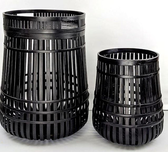 Tables Slatted Black - Set of 2
