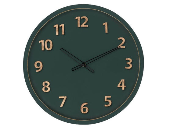 Charlie Wall Clock - Green