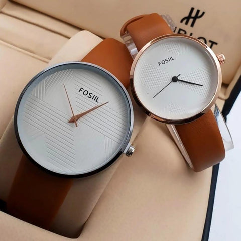 Buy first copy Fossil Couple watch online | DOPESHOP