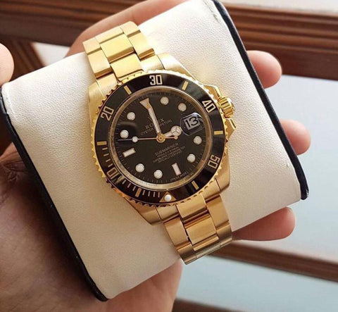 Rolex Submariner Gold Semi Automatic Men's Watch