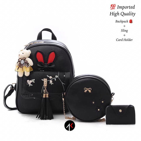 PU Leather Backpack For Women Girl
