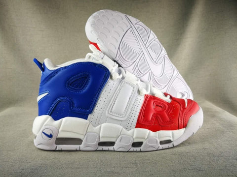 NIKE UPTRMPO WHITE RED BLUE