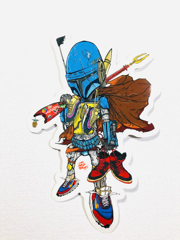 Sneaker hunter fett sticker
