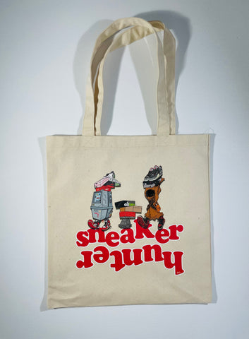 SNEAKER HUNTER CANVAS TOTE BAG