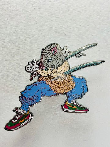 Demon Slayer Inosuke  enamel pin