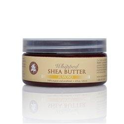 Organic All Natural Whipped Almond Shea Butter - 8 Oz. - Moisturizer, Anti-Inflammatory And Anti-Aging Properties