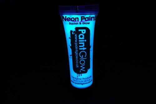 Paintglow 10Ml/.34Oz Blacklight Reactive Face And Body Paint- White