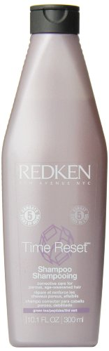 Redken Time Reset Shampoo, Corrective Care For Porous,  Age-Weakened Hair, 10.1-Ounce