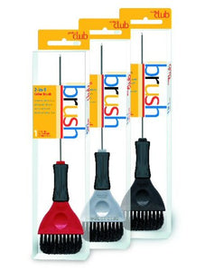 Product Club 2-In-1 Color Brushes: Red, Silver, Black-1 Each
