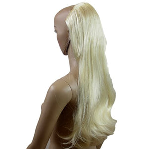 New Style Half Wig Hairpiece Clip On One Piece Extra Long Platinum Bleach Blonde Synthetic