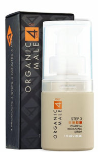 Organic Male Om4 Oily Step 3: Vitamin A Regulating Serum - 1 Oz