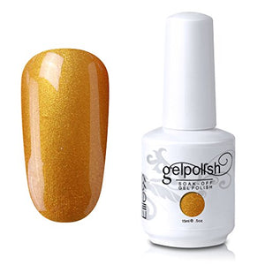 Elite99 Soak-Off Uv Led Gel Polish Nail Art Manicure Lacquer Pearl Dark Orange 655 15Ml