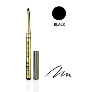 One & Only Cosmetics Waterproof Auto Eye & Lip Liner Pencils (Black)