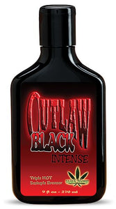 Outlaw Black Bronzer Triple Hot Tingle Tanning Lotion 9Oz