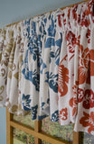 Curtain Chic Jacobean Abstract Beacon Valance, Delft Blue