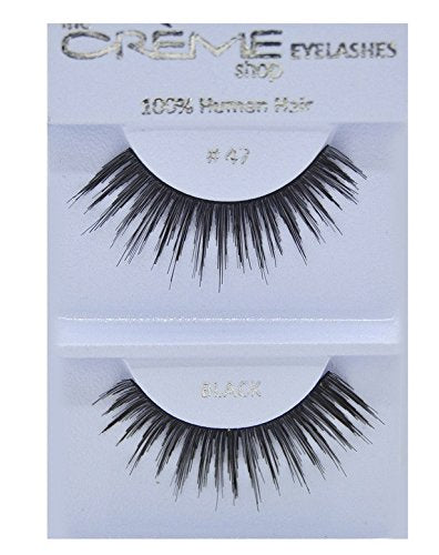 12 Packs The Creme Shop 100% Human Hair Eyelashes (#47)