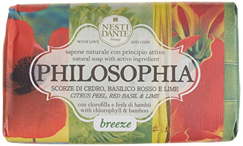 Nesti Dante Philosophia Natural Soap - Breeze - Citrus Peel, Red Basil & Lime With Chlorophyll & Bamboo 250G/8.8Oz