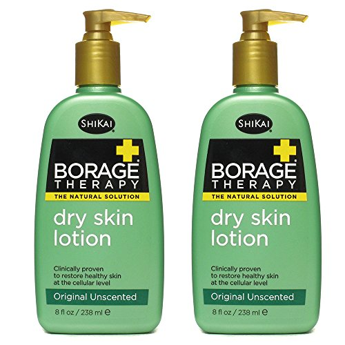 Shikai All Natural Borage Dry Skin Therapy Body Lotion Cream For Severely Dry Skin With Organic Aloe Vera, Jojoba, Vitamin E, Shea Butter And Omega-6 Fatty Acids, 8 Fl. Oz.