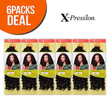 Outre Synthetic Hair Crochet Braids X-Pression Braid 4 In 1 Loop Bohemian Curl 14 (6-Pack, 4)