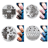 20Pcs Nail Art Stamping Template Cartoon Cute Fruit Animal Manicure Print Diy Image Plate With Stamper Kit Valentine'S Day Gift (15Pc, 16-30)