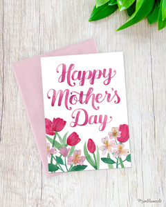 Happy Mother's Day - Pink Tulips