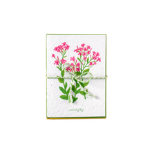 Load image into Gallery viewer, Bundle of greeting cards featuring Canadian and American wildflowers printed on plantable seed paper.