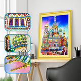 REF071- KIT BRODERIE DIAMANT 3D 5D - SPECIAL SHAPED - MOSCOU