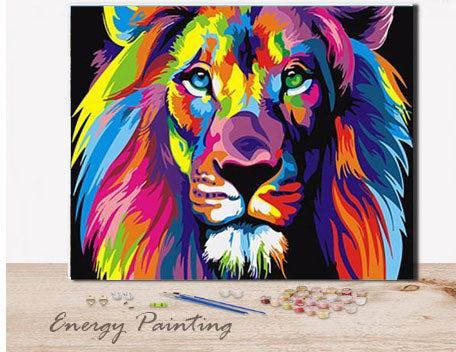 REF002-ENERGY-PAINTING-PEINTURE-PAR-NUMERO-LION-MULTICOLOR