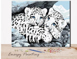 REF035-ENERGY-PAINTING-PEINTURE-PAR-NUMERO-BEBES-LEOPARDS-DES-NEIGES