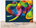 REF109 - PEINTURE PAR NUMEROS - KIT DIY - ELEPHANT MULTICOLOR
