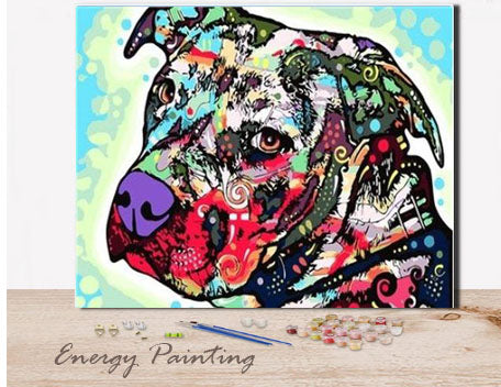 REF191-ENERGY-PAINTING-PEINTURE-PAR-NUMERO-CHIEN-STAFF-POP-ART