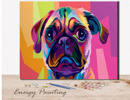 REF258-ENERGY-PAINTING-PEINTURE-PAR-NUMERO-BOULEDOGUE-FRANCAIS-POP-ART